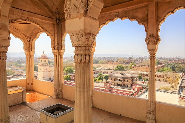 North India temples view of Jaipur